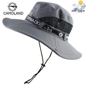 b853a30d44f CAMOLAND Men Bucket Hat Women Summer Fishing Cap Outdoor