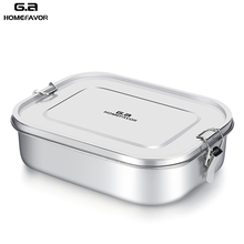 G.A HOMEFAVOR Customอาหารกลางวันกล่องอาหารเด็กBentoกล่อง304เกรดสแตนเลสเก็บความร้อนกล่องโลหะสต็อก