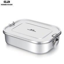 G. Bir HOMEFAVOR özel yemek kabı için çocuk yiyecekleri konteyner Bento kutusu 304 üst sınıf paslanmaz çelik depolama termal Metal kutu stok