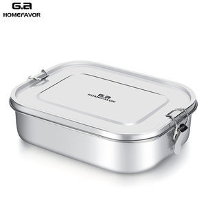 Image 1 - G.a HOMEFAVOR 어린이를위한 맞춤형 도시락 상자 식품 용기 Bento Box 304 최고급 스테인레스 스틸 보관 열 금속 상자 재고