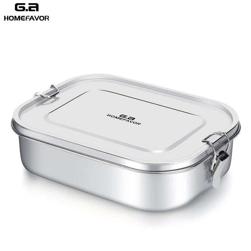 G. um HOMEFAVOR Personalizado Lunch Box For Kids Food Container Bento Box 304 Caixa de Metal De Armazenamento Térmico de Aço Inoxidável de Grau Superior estoque