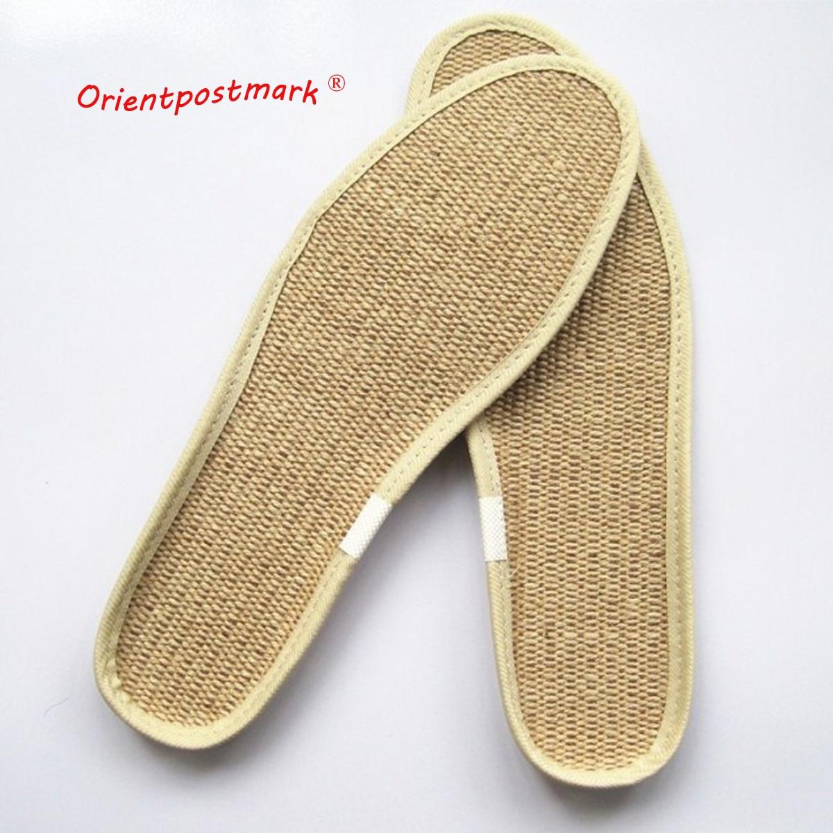 Jute EVA Insole Non-slip Linen Insole Durable Comfort Flax Absorbent  Breathable Unisex Sports Insoles Deodorant