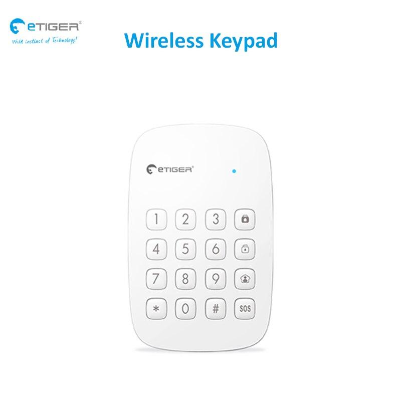 Güvenlik ve Koruma'ten Alarm Sistemi Kitleri'de Kablosuz tuş takımı 433 mhz RFID okuyucu uzun iletim mesafesi kapısı/kapı/giriş devre dışı bırakma tuş takımı etiger ES K1A title=
