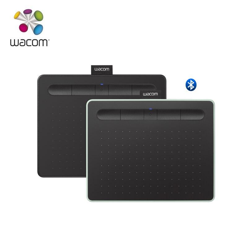 Wacom Intuos CTL-4100WL Bluetooth Model Graphic Drawing Tablet 4096 Pressure Level Black/ Pistachio Green Color+10Pcs Black Nibs