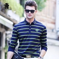 2017 Autumn New men's Long Sleeve Polo shirtS Fashion Stripe Plus Size High Qulaity Business Casual Polo Shirts For Men Cb17D897