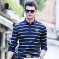 2017 Autumn New men's Long Sleeve Polo shirtS Fashion Stripe Plus Size High Qulaity Business Casual Polo Shirts For Men Cb17D897
