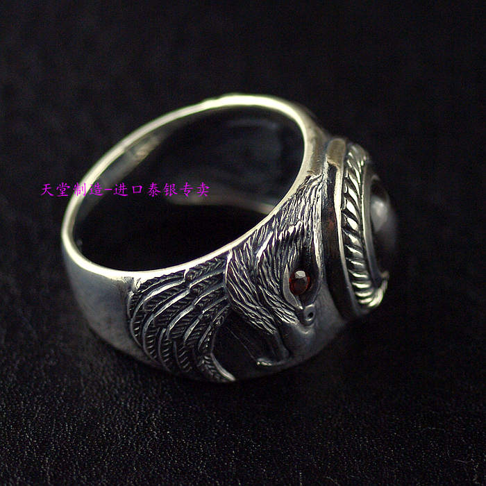Thailand imports, 925 Silver Eagle Mens Ring thailand imports skull blood new skeleton silver ring
