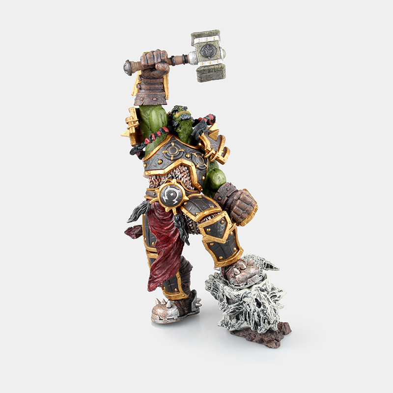 26cm DC ACGN Thrall The Orc Shamman Motion Determine Toy Thrall Doll PVC Collectible Mannequin Toy