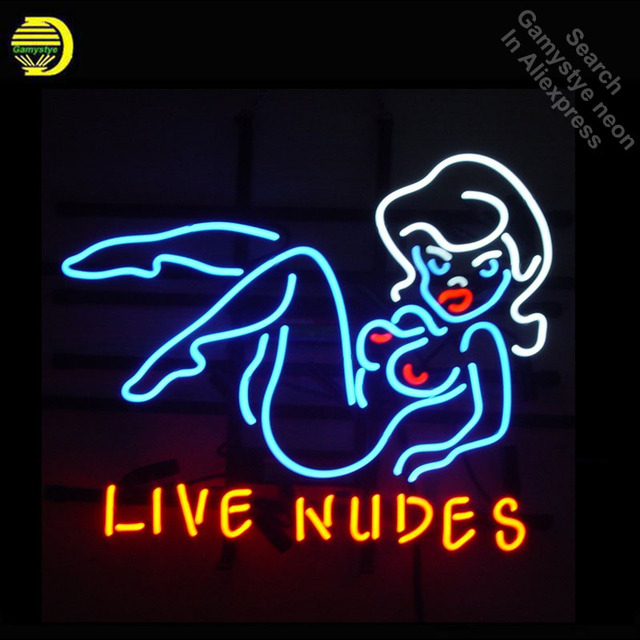 Neon Sign for Lives Nudes Bar Girl Neon Tube sign handcraft Commercial windows Neon Flashlight sign Decorate Beer Bar pub room