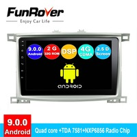 Funrover Android 9.0 2.5D+IPS car radio For Toyota Land cruiser 100 LC 100 Lexus LX4 dvd gps navigation system autoradio DSP RDS