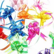 10 ШТ. Multipattern Wrap Цвет Тянуть Поклон Цветок Свадьба День Рождения Декор Отдыха Вытяните Цветочные Ленты 1.2 см