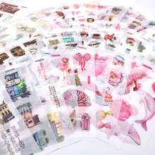 6 Pcs/set Creative Waterproof  Stickers Handbook DIY Album Graffiti Phone Refrigerator Cool Kids Toy