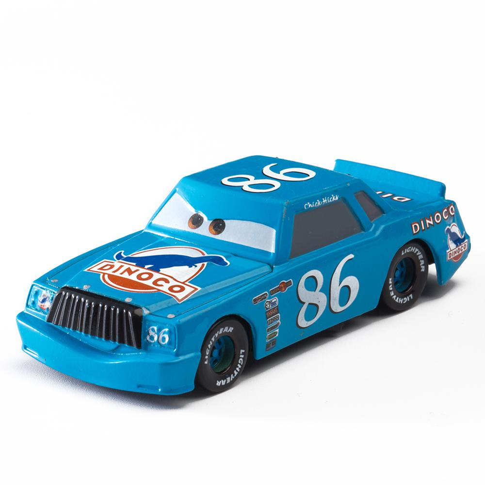 Disney Pixar Cars ChickHicks Lightning McQueen Mater Jackson Storm Ramirez 1:55 Diecast Metal Alloy Model Toy For Children Gift