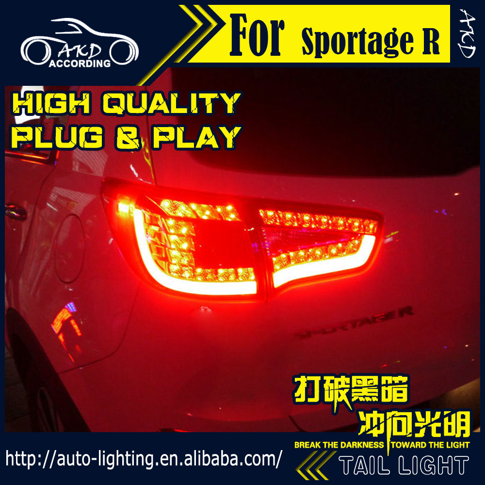 AKD Car Styling Tail Lamp for Kia Sportage R Tail Lights 2012 Sportage LED Tail Light Signal LED DRL Stop Rear Lamp Accessories