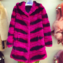 In 2016, the new beaver rabbit hair women's fashion hat red warm fur coat Package mail