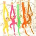 10 pçs/lote 60 cm de cortinas cama do Animal colorido longo de cauda de macaco de pelúcia boneca brinquedos de pelúcia presentes de aniversário