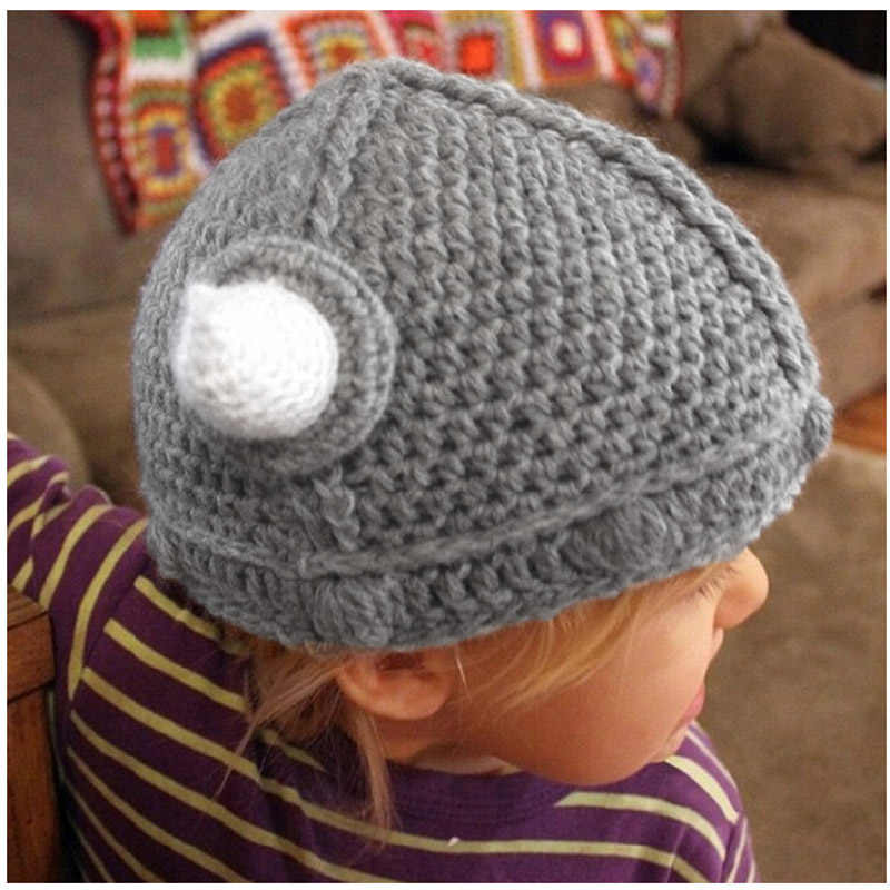 79ffbed20 2018 Toddler Crochet Viking Hat Handmade Baby Kids Crochet Bonnet Winter  Hat Cartoon Horns Knitted Hat Xmas Gift