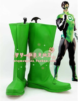 New Arrival DC Comics Green Lantern Cosplay Shoes Boots High Quality Pleather