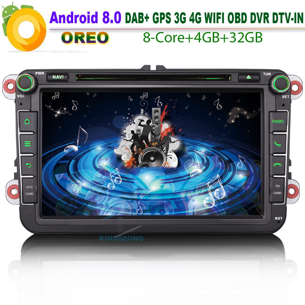 android 8 0 dab car cd player for vw touran golf jetta. Black Bedroom Furniture Sets. Home Design Ideas