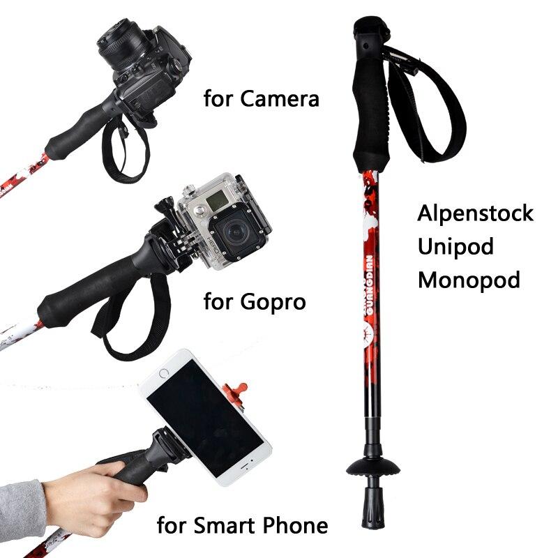 Fotocamera monopiede monopiede, portatile dslr professionale monopiede per canon eos nikon dslr come manfrotto off road bastoni da passeggio