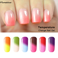 Verntion Soak Off Led Mood Nail Polish Lacquer thermo gel Varnish Chameleon Temperature Change Color lucky Nail Art