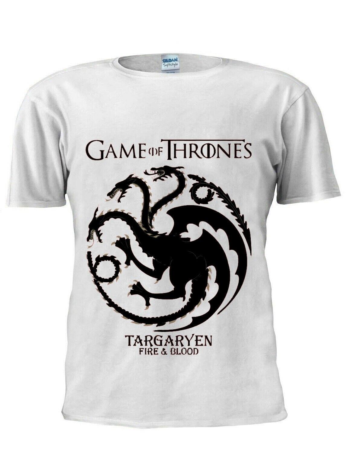 T-Shirt Game OF Thrones Targaryen Khaleesi Dragon hommes femmes T-Shirt unisexe M201