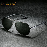 MYMARCH Brand Unisex Retro Aluminum+TR90 Sunglasses Polarized Lens Vintage Eyewear Accessories Sun Glasses For Men Oculos UV400
