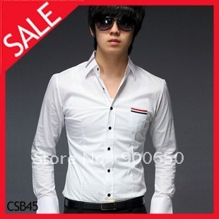 2012 New Mens Simple Temperament Shirt With Stripe Detail    CSB45