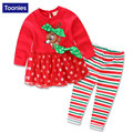 New Baby Christmas Outfits Children's Clothing Sets Long Sleeve Kids Clothes Boys Top+Pants Toddler Girl Clothing Lovely Clothes
