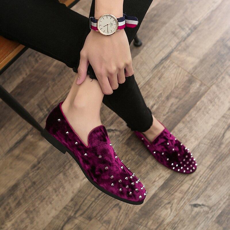 Marée rouge Rivet Nouveau Grand Chaussures Noir Personnalité 48 Mode Size37 2019 De Hommes Britannique bleu x8Yq1nn6H