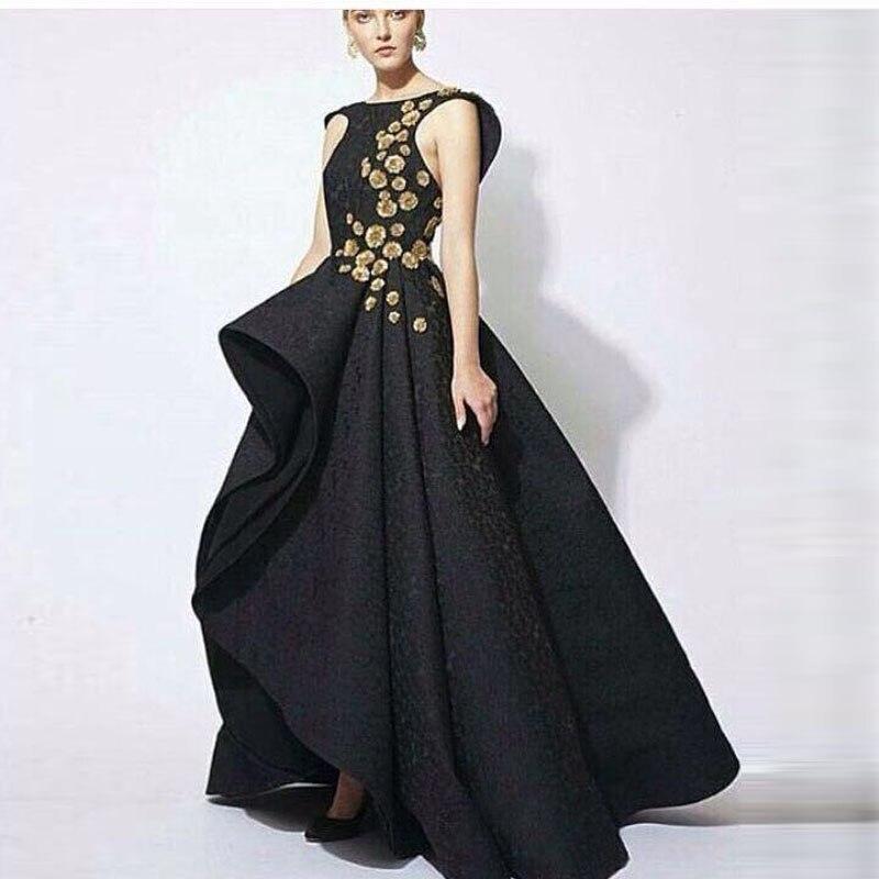 Vestidos largos en encaje negro