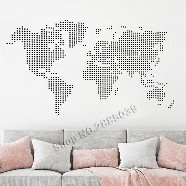 Online shop newest style world map wall decals art vinyl stickers newest style world map wall decals art vinyl stickers for living room wallpapers sofa background bedroom decor hall mural la545 gumiabroncs Image collections