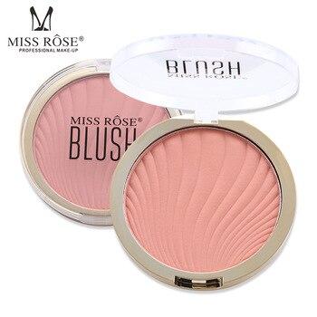 8879b12e8 ROSE 6 colores mate Blush Nude maquillaje Natural reparación polvo duradera  Blush brillo Color maquillaje paleta NL