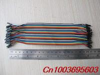 40PCS Dupont Wire Color Jumper Cable Line Connector 20cm Male To Male 1p 1p Pin