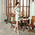 Chinese Traditional Dresses China Embroidery Qipao Wedding Cheongsam Sexy Beautiful Prom 100% Real Silk Dress SMYQP-G0054