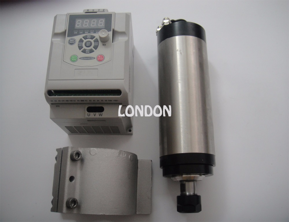 ER20 диаметр 80 мм 220 В 24000 об./мин. 2.2KW водяного охлаждения шпинделя + 2.2KW инвертор + поддержка шпинделя
