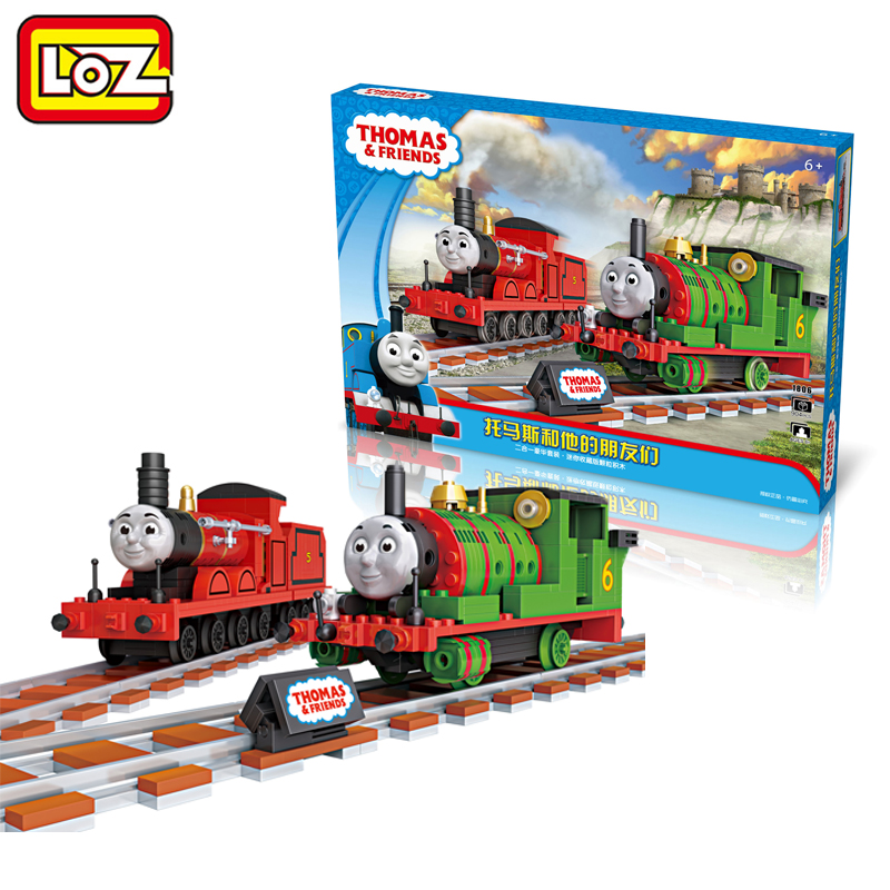 Ormino LOZ Mini Blocks Thomas & friends Train Model Toy James and Percy Assemblage Cartoon Figure Toy 2 in 1 Collector Edition loz nanoblock cartoon figures thomas and friends train 2in1 mini diamond building block model educational toys for children gift