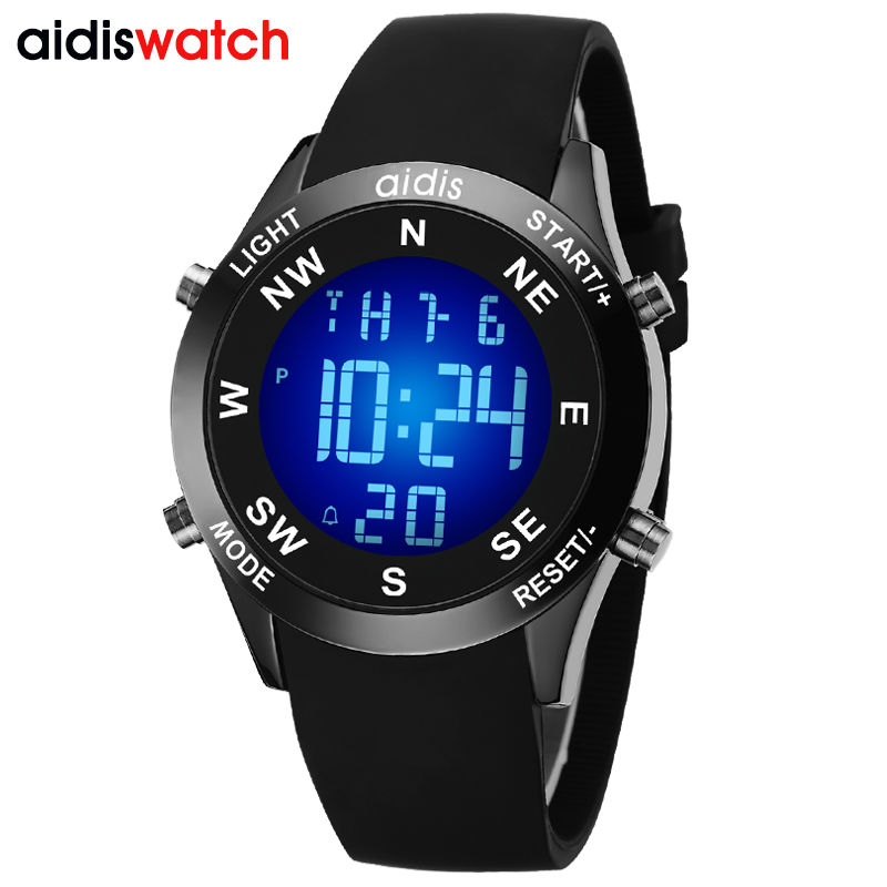 7 Different Backlight Colors Choose Outdoor Sports Led Watch Student Mountaineering Electronic Waterproof Digital Wrist watch