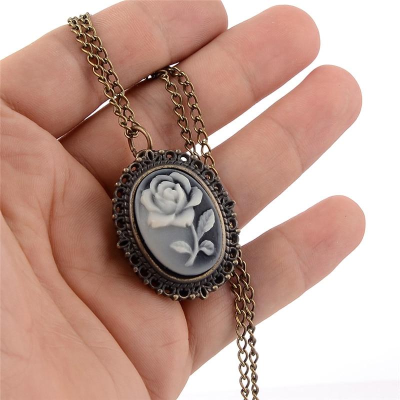 Fashion Mini Pocket Watch Rose Flower Quartz Necklace Pendant Chain Women Men Fob Watches Relogio De Bolso