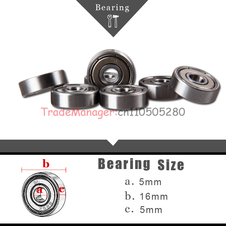 Brand new imported 10PCS Miniature Radial Ball <font><b>Bearings</b></font> <font><b>bearings</b></font> <font><b>5*16*5</b></font> (625) Accessories Remote control helicopter spare parts image