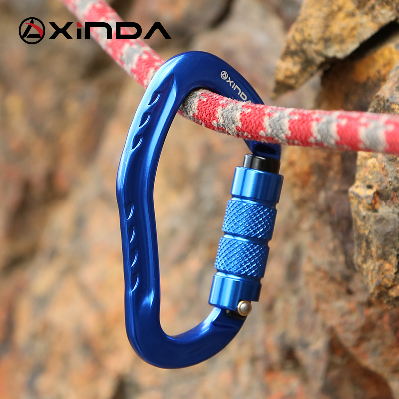 Image 4 - XINDA Professional Rock Climbing Carabiner 22KN Safety Pear shape Safety Buckle Hiking Survival Kit Protective Equipment-in Climbing Accessories from Sports & Entertainment