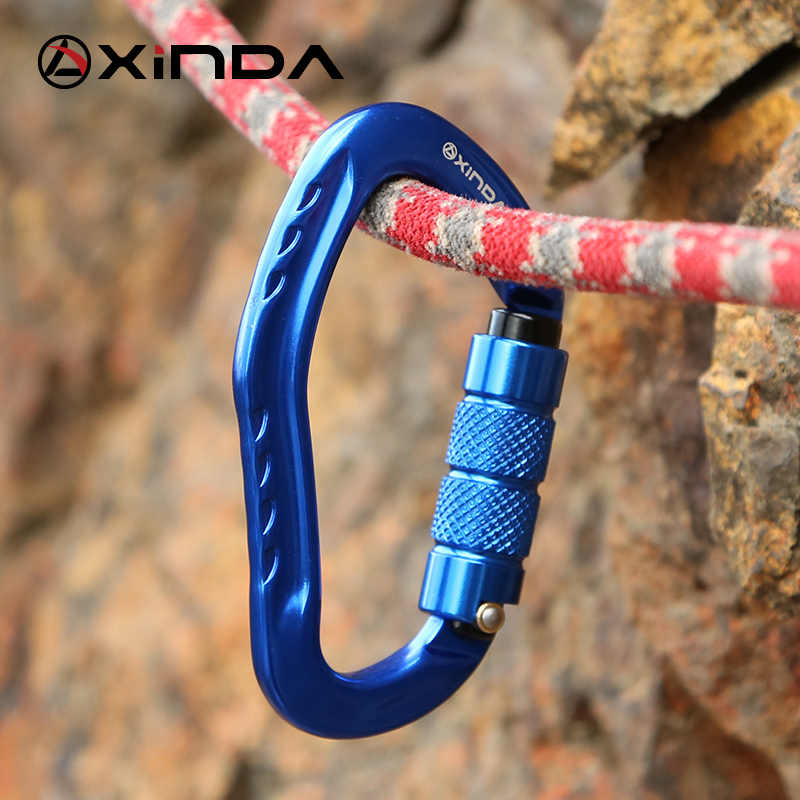 Xinda Профессиональный альпинистский карабин 22KN безопасности в форме груши безопасности пряжки путешествие на выживание комплект защитное оборудование