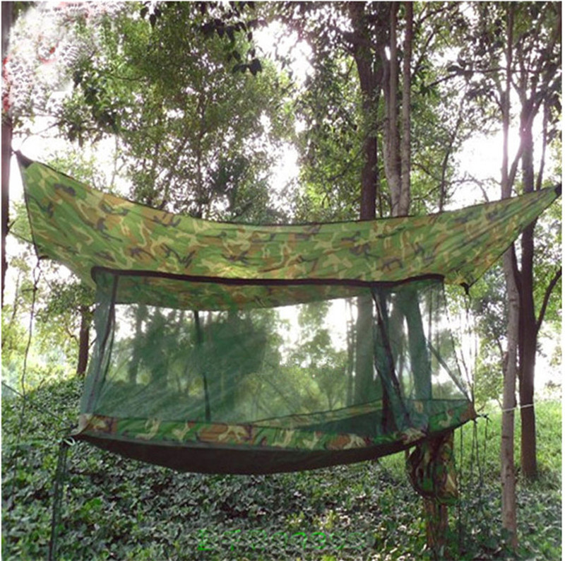 New Portable multifunctional Sleeping Bed Hammock tents Net Outdoor Travel Camping Backpacking Camo Military Jungle