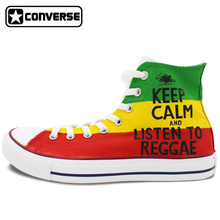 Colour Sneakers Women Men Converse All Star Reggae Music Design Custom Hand Painted Shoes High Top Man Woman Skateboarding Shoes
