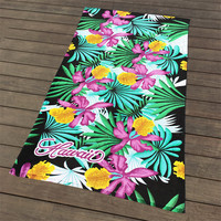 2019 fashion style soft water absorption and extra large bath towel 180*105cm beautiful flowers pattern beach towels surfing