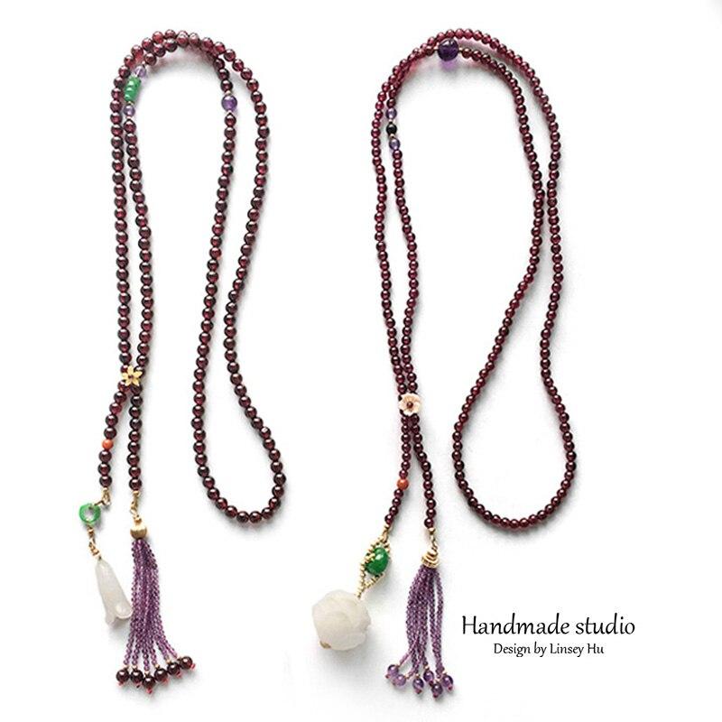 La MaxZa Femmes Mode Strand Colliers Bijoux Lotus Orchidée Pendentif Chandail Chaîne Naturel rouleaux de ruban qualité supérieure MY2310