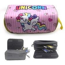 unicorn pencil case High capacity kalem kutusu Kawaii material escolar pencilcase estuche escolar school trousse scolaire