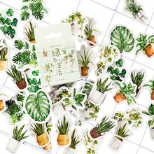 45pcs/pack Kawaii Green Plant Life Stationery Decorative Mini Sticker DIY Album Decoration Stickers Scrapbooking Office Supply