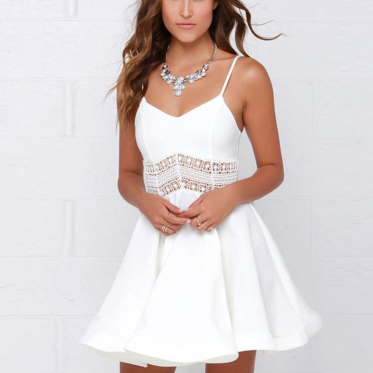 White Skater Dress Promotion-Shop for Promotional White Skater ...