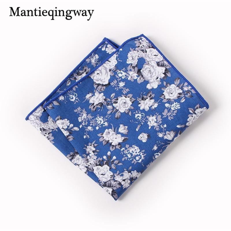Mantieqingway Mens Pocket Square Formal Business Suit Wedding Handkerchiefs Men Pocket Hankies Cotton Handkerchief Chest Towel